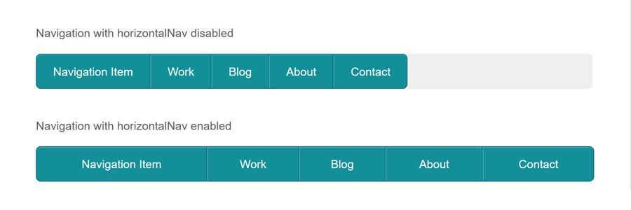 HorizontalNav javascript navigation menu responsive web design