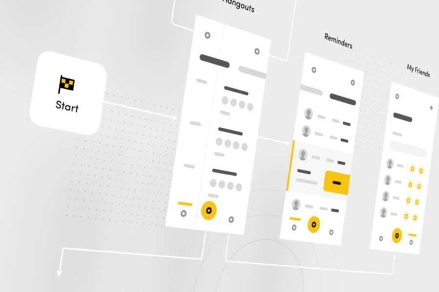 Fireart Studio Mobile Flowchart design inspiration