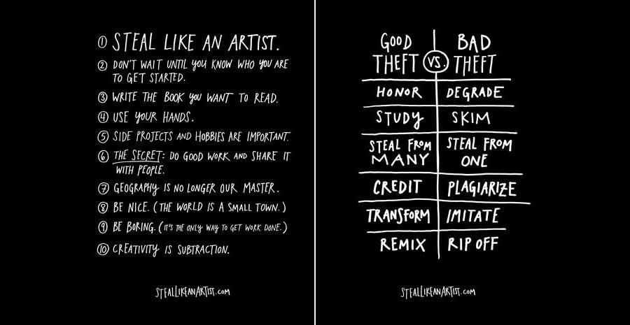Steal Like An Artist Book Design Storytelling