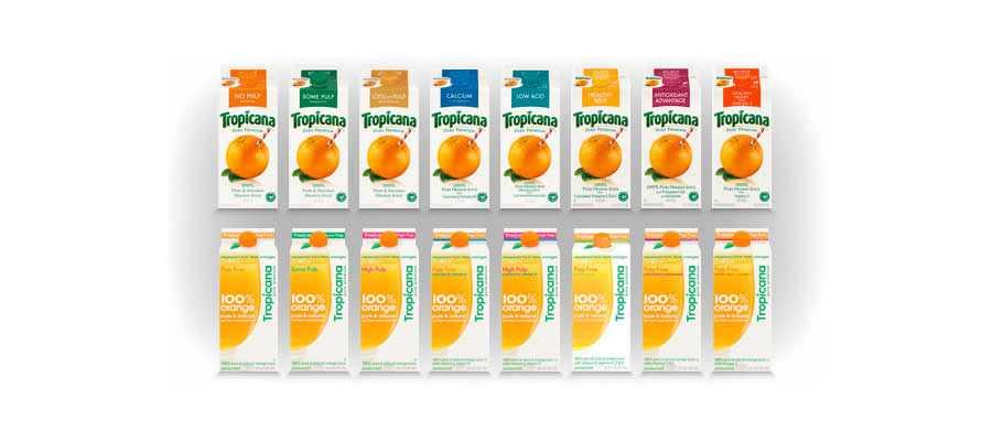 redesign Tropicana orange juice