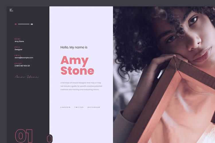 Example from 15 Free HTML Templates for Creating Resumes