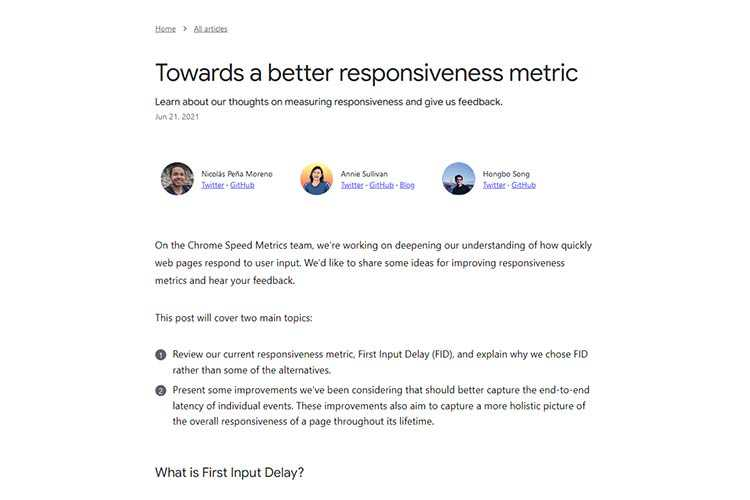 Example from Towards a better responsiveness metric