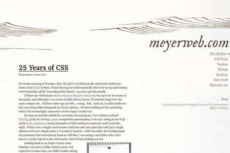 Example from 25 Years of CSS