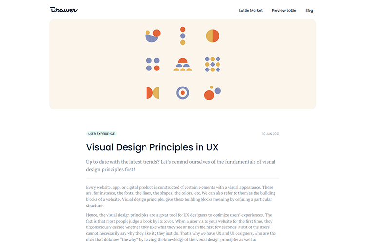 Example from Visual Design Principles in UX