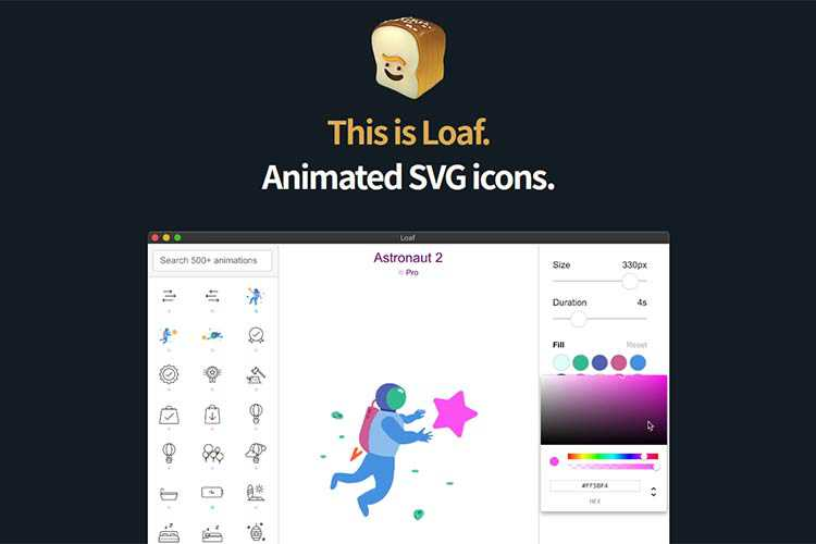 Example from Loaf SVG Icons
