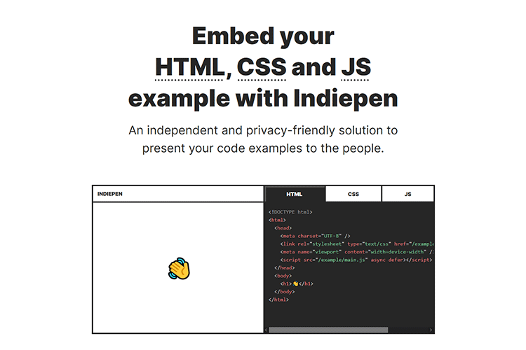 Example from Indiepen