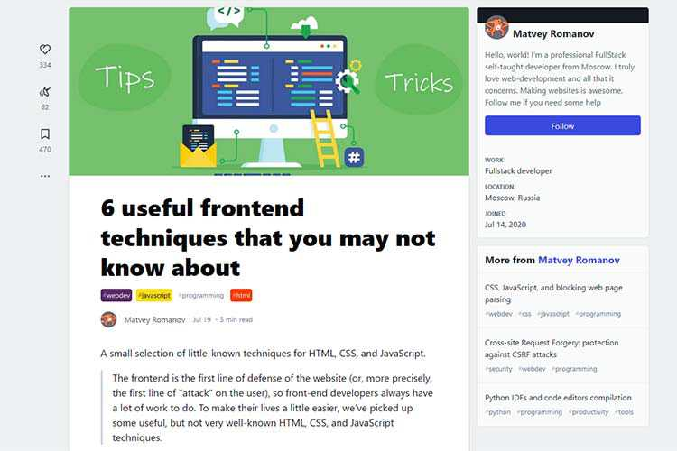 Example from: 6 useful frontend techniques that you may not know about