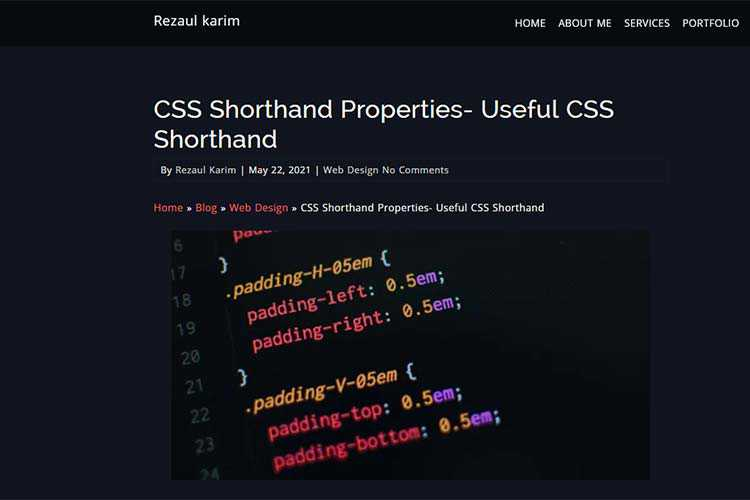 Example from: CSS Shorthand Properties- Useful CSS Shorthand