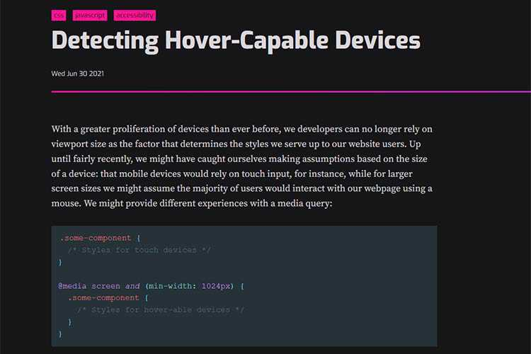 Example from Detecting Hover-Capable Devices