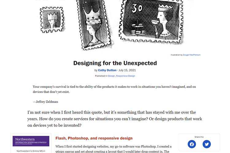 An example of design for the unexpected