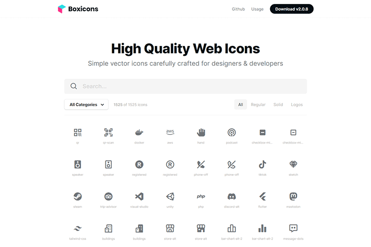 An example of Boxicons