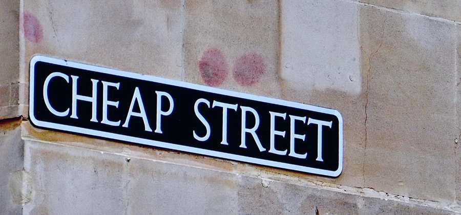 cheap street road sign