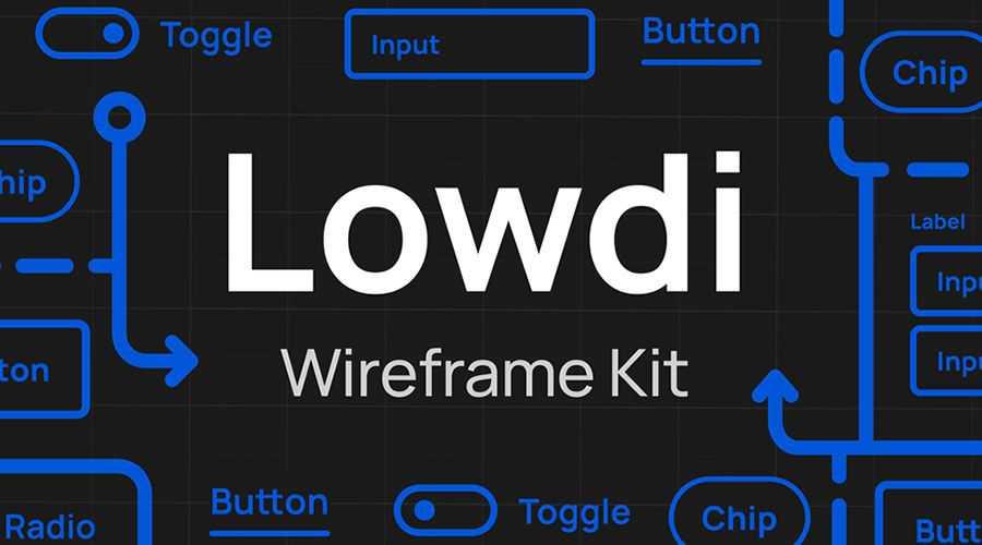 Lowdi Wireframe Kit free wireframe template Sketch Format