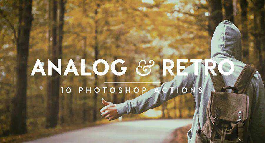 Analógico Retro Vintage Photoshop Acción atn