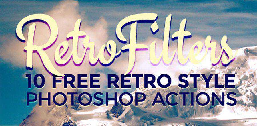 Efecto fotográfico de estilo retro Acción gratuita de Photoshop atn