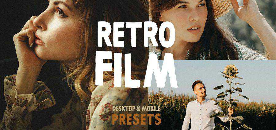 Película retro gratis photoshop action atn