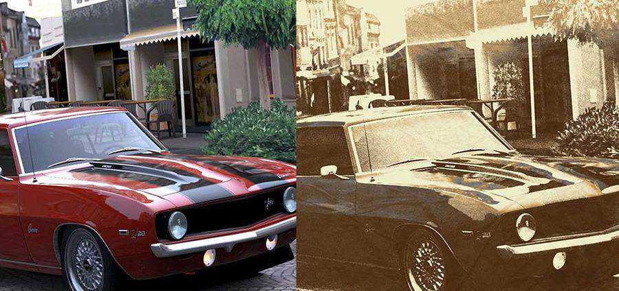 Efecto de foto vintage PSD Acción de Photoshop gratis atn