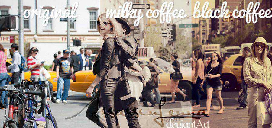 Taza de café vintage gratis photoshop action atn