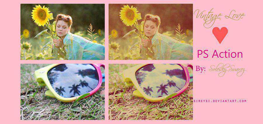 Vintage Love Free Photoshop Acción atn
