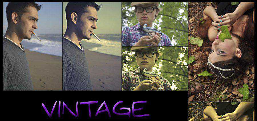 Efecto vintage gratis photoshop action atn