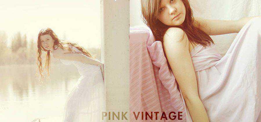 Acción de Photoshop gratis rosa vintage atn