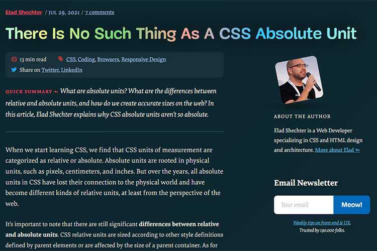 Example from There Is No Such Thing As A CSS Absolute Unit
