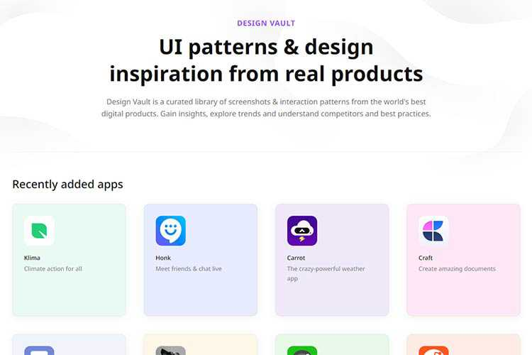 Example from UI patterns & design inspiration from real products