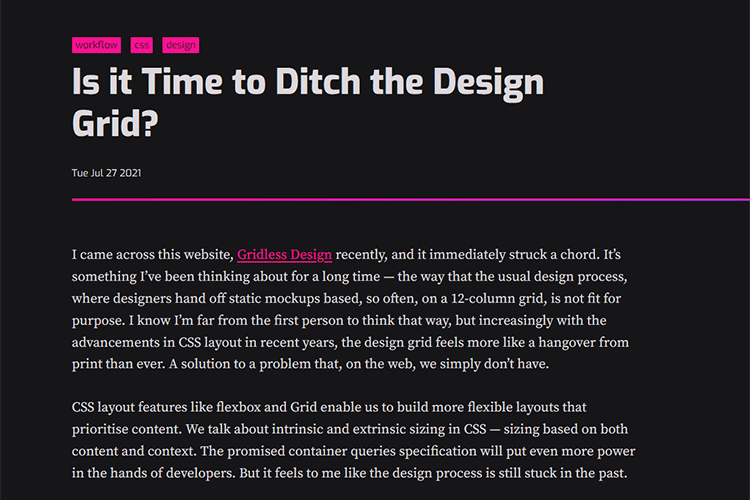 Example from Is it Time to Ditch the Design Grid?