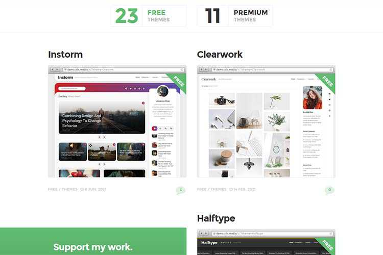 Example from ALX Free Themes