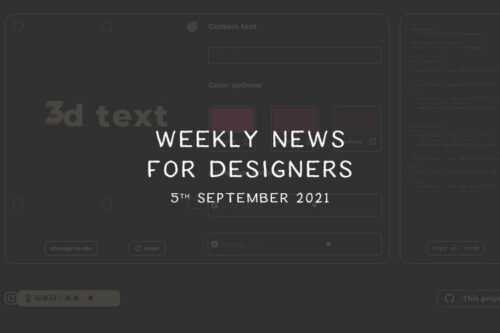 Weekly News for Designers № 608