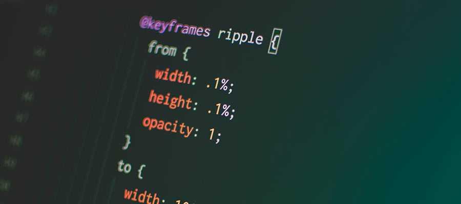 CSS code.