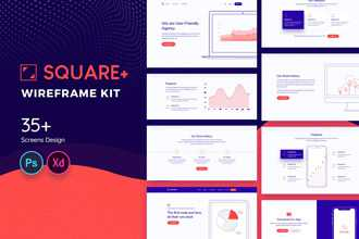 Square+ Web Wireframe Kit
