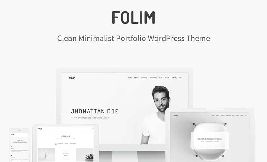 Folim Portfolio wordpress theme photographer portfolio camera