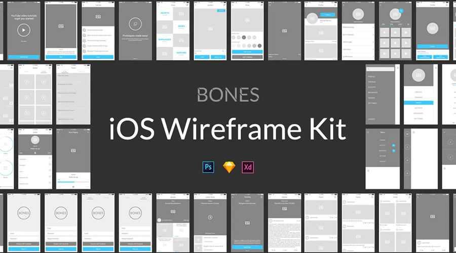 Bones IOS free wireframe template