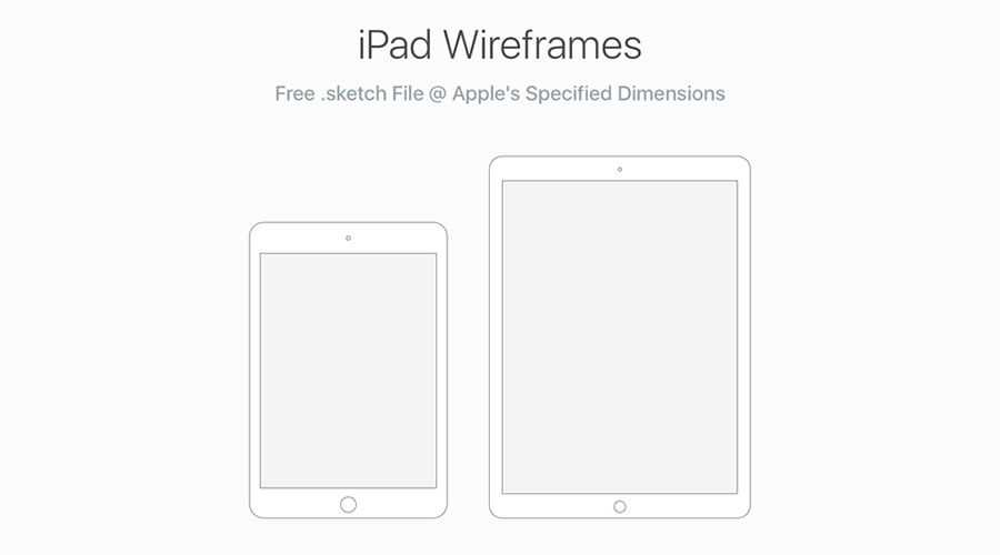 iPad Wireframes for UX Design free wireframe template Sketch Format