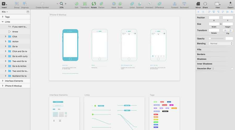 WZ Kit free wireframe template Sketch Format