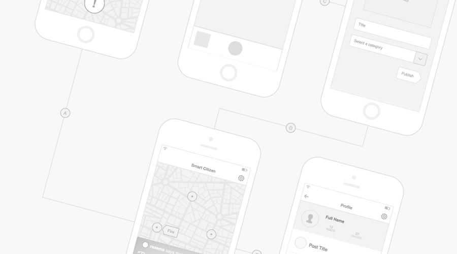 Mobile free wireframe template Sketch Format