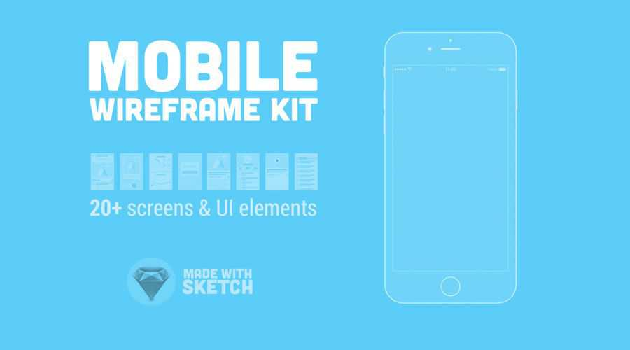 Mobile Wireframe Kit free wireframe template Sketch Format