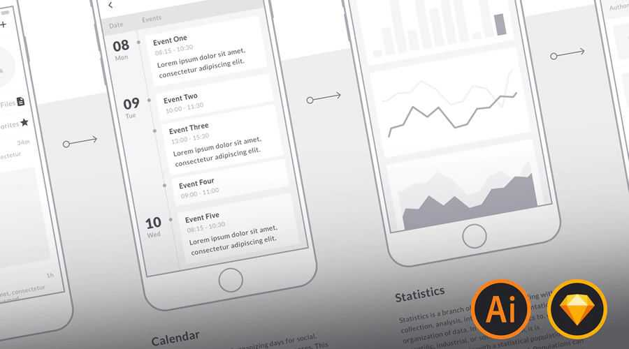 Mobile Wireframe free template
