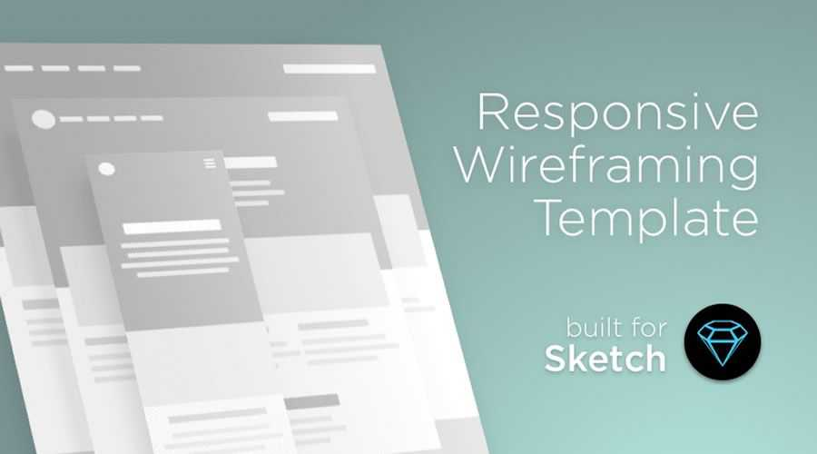 Responsive Website free wireframe template Sketch Format