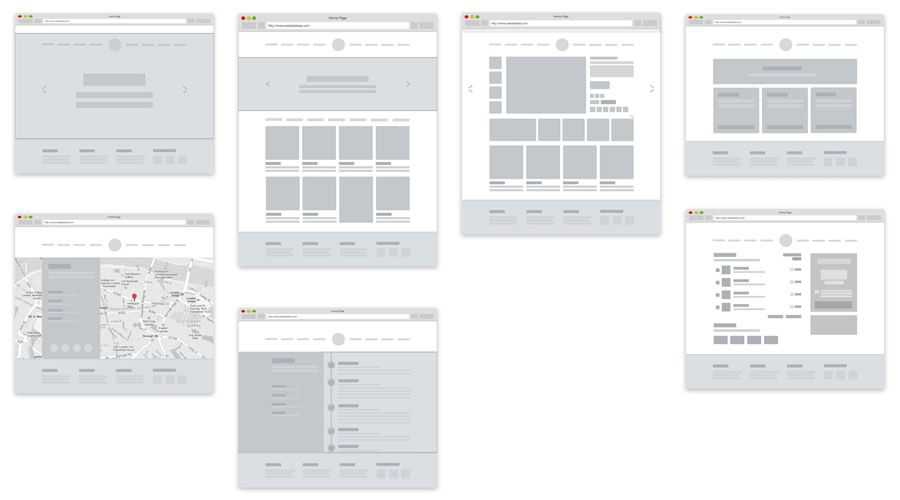 Mottom Simple eCommerce free wireframe template Sketch Format