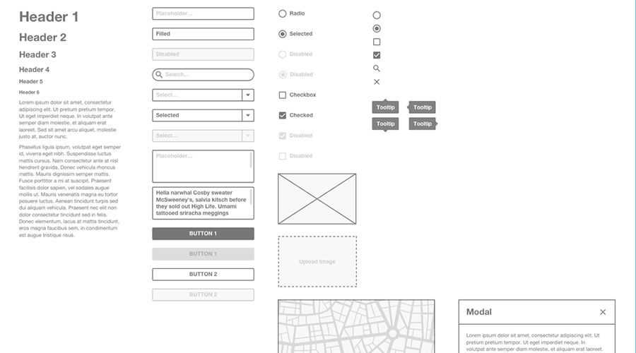 Multi-Purpose free wireframe template Sketch Format