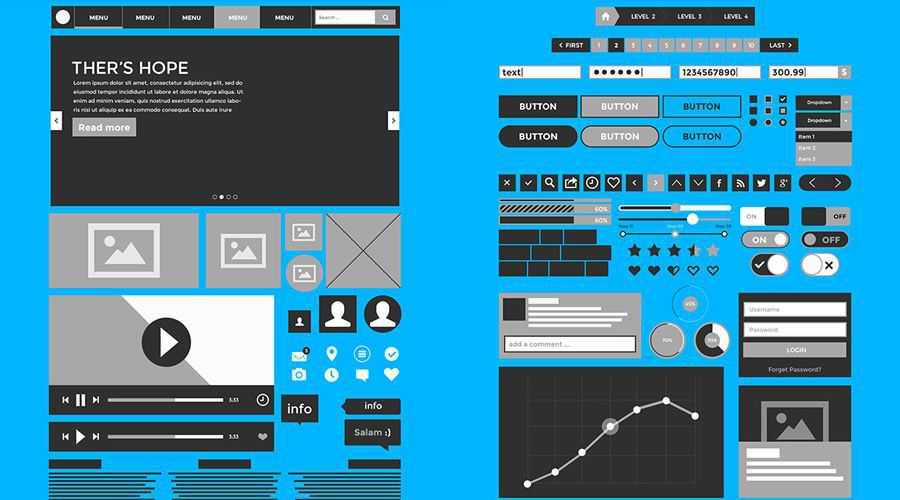 Kita3 Mockup UI free wireframe template Photoshop PSD Format