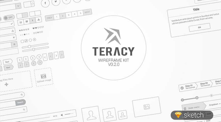 Teracy free wireframe template Sketch Format
