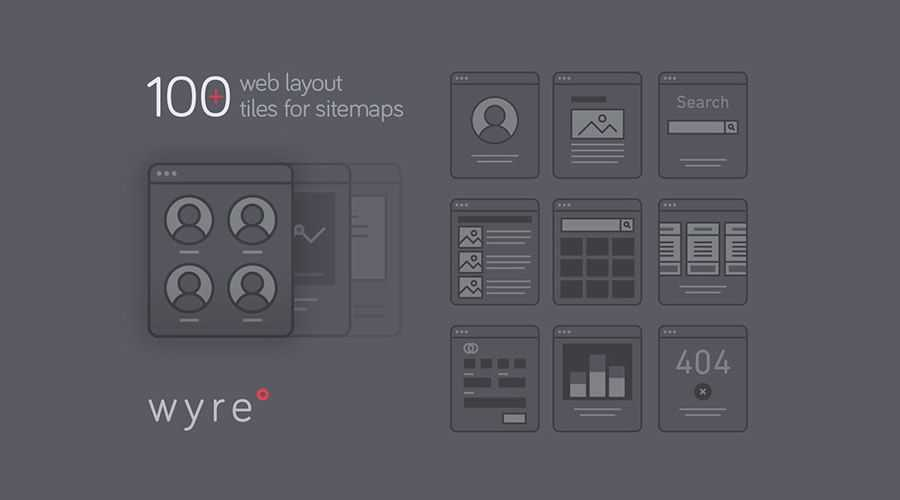 Wyre Web Layout Flowcharts free wireframe template AI EPS SVG Format