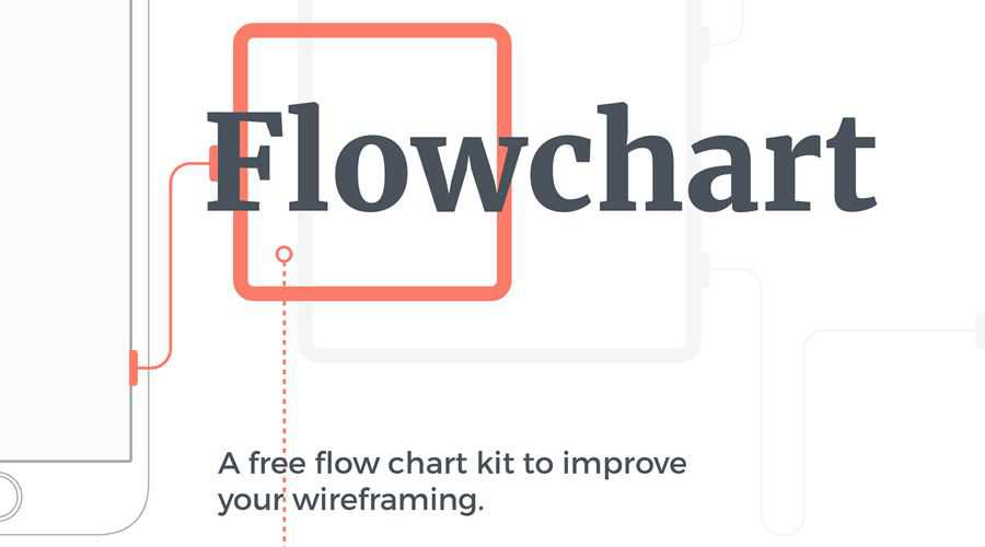 Mobile Wireframing Kit Flowchart free wireframe template Sketch Format