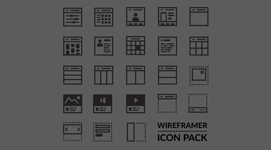 Wireframer Icon Pack free wireframe template SVG Format