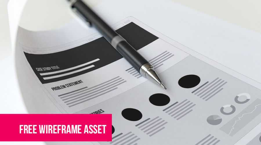 UX Case Study free wireframe template EPS Format