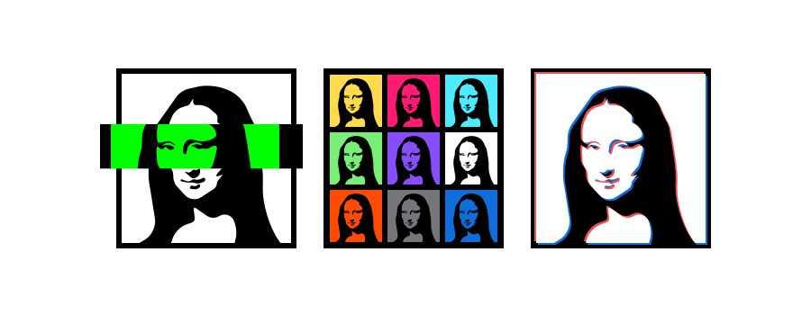 Glitch Mona Lisa Graphic Design