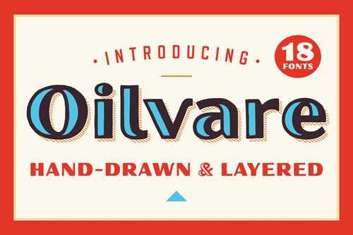 Oilvare Hand-Drawn Font Family